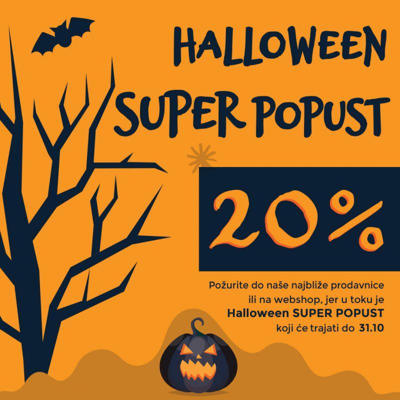 Halloween SUPER POPUST do 20%